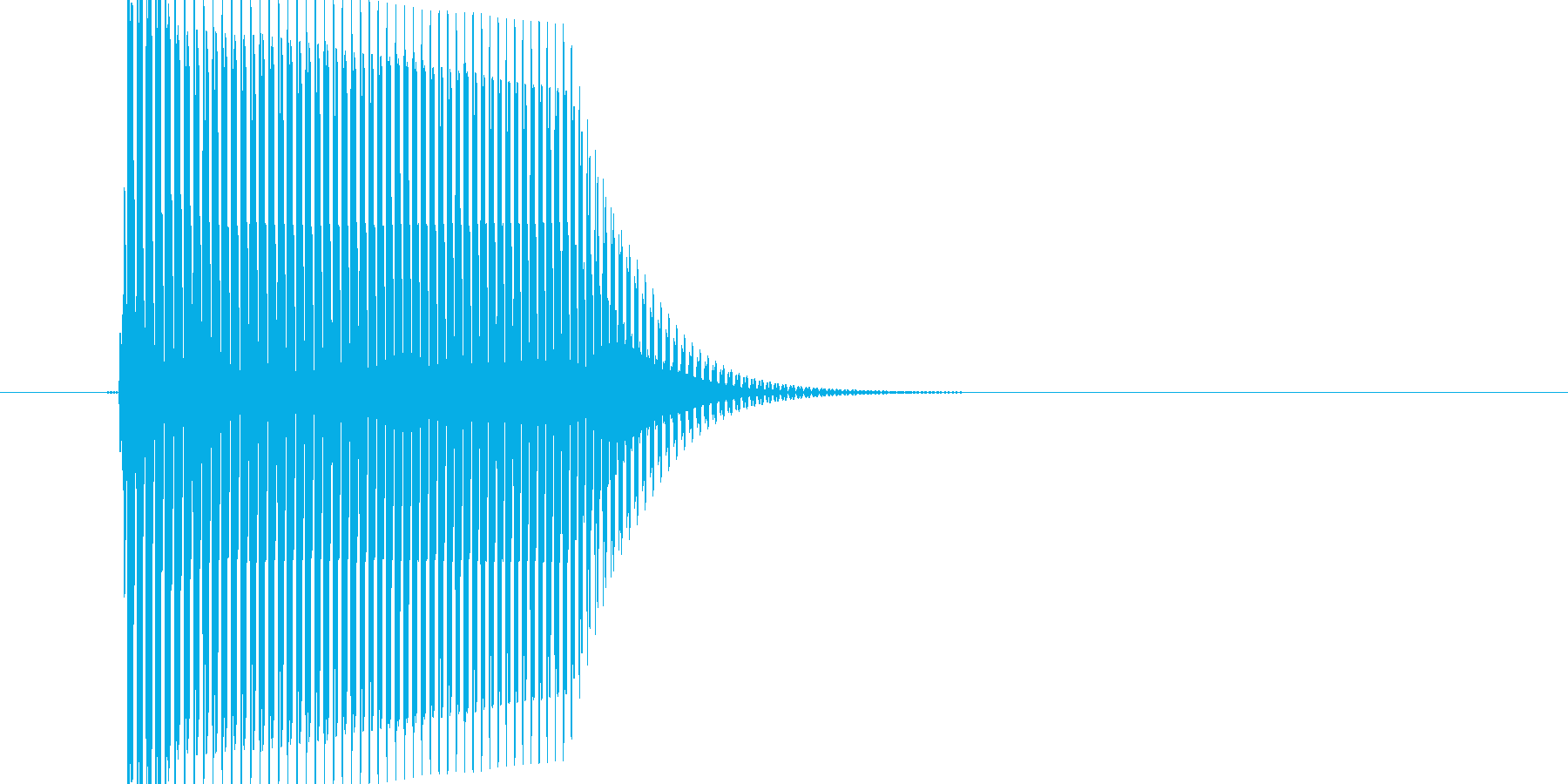 弾力感のある選択音の再生済みの波形
