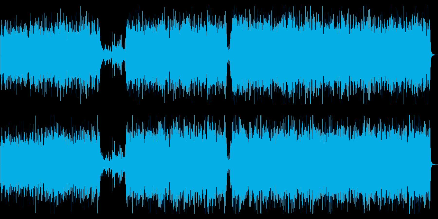 2戦闘シーンダークでヘヴィなヴァイオリンの再生済みの波形