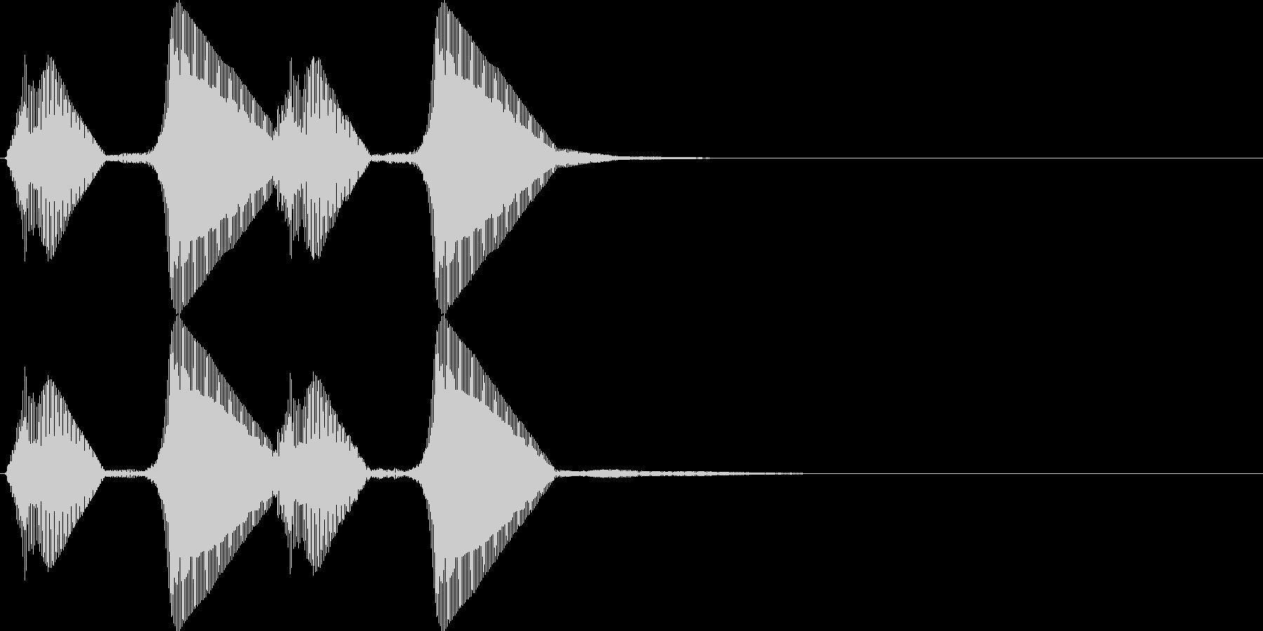 パフパフ。パフパフラッパB(低・2連発)の未再生の波形