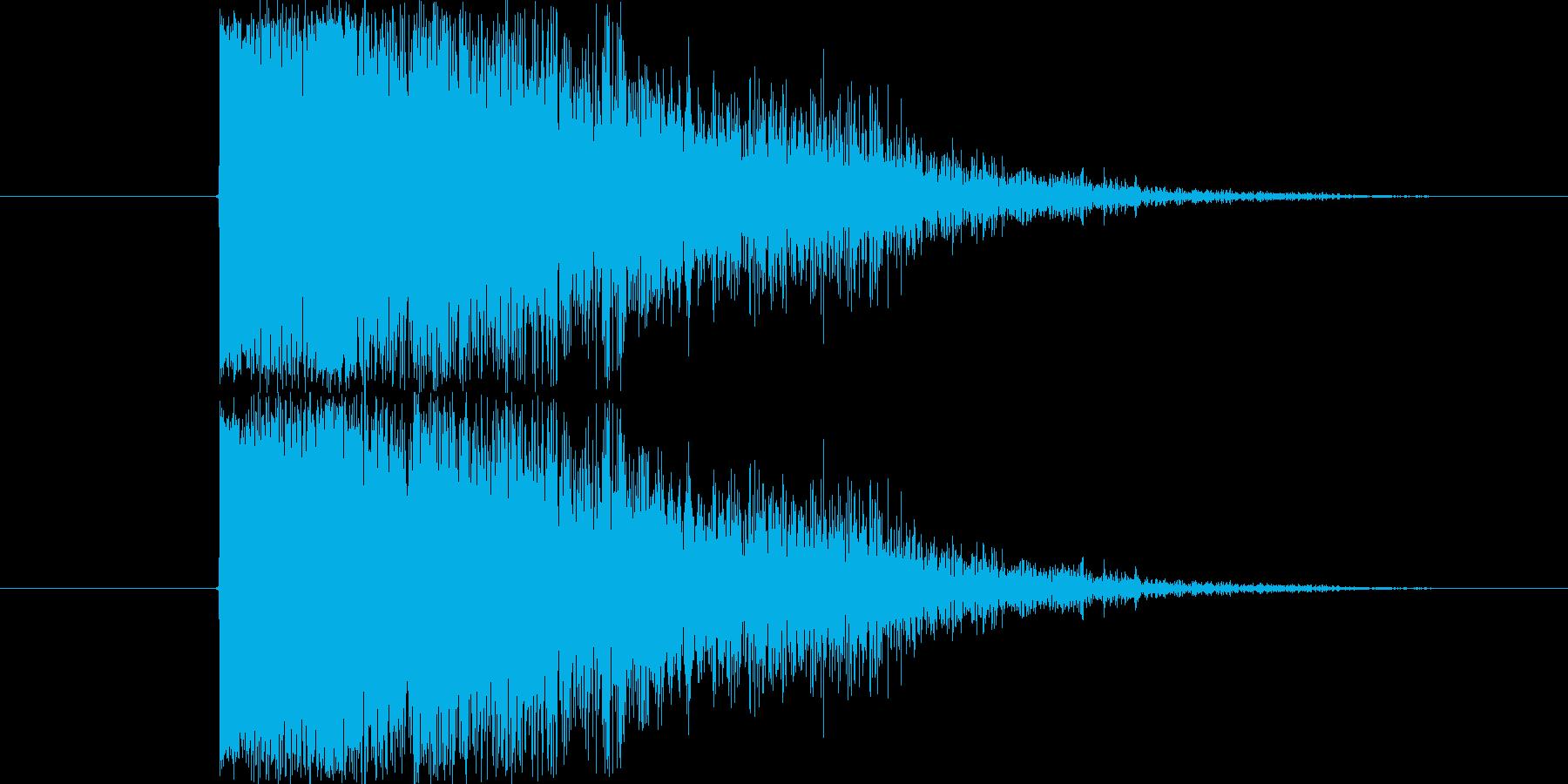 SF的なインパクト音です。シンセ音に伸…の再生済みの波形