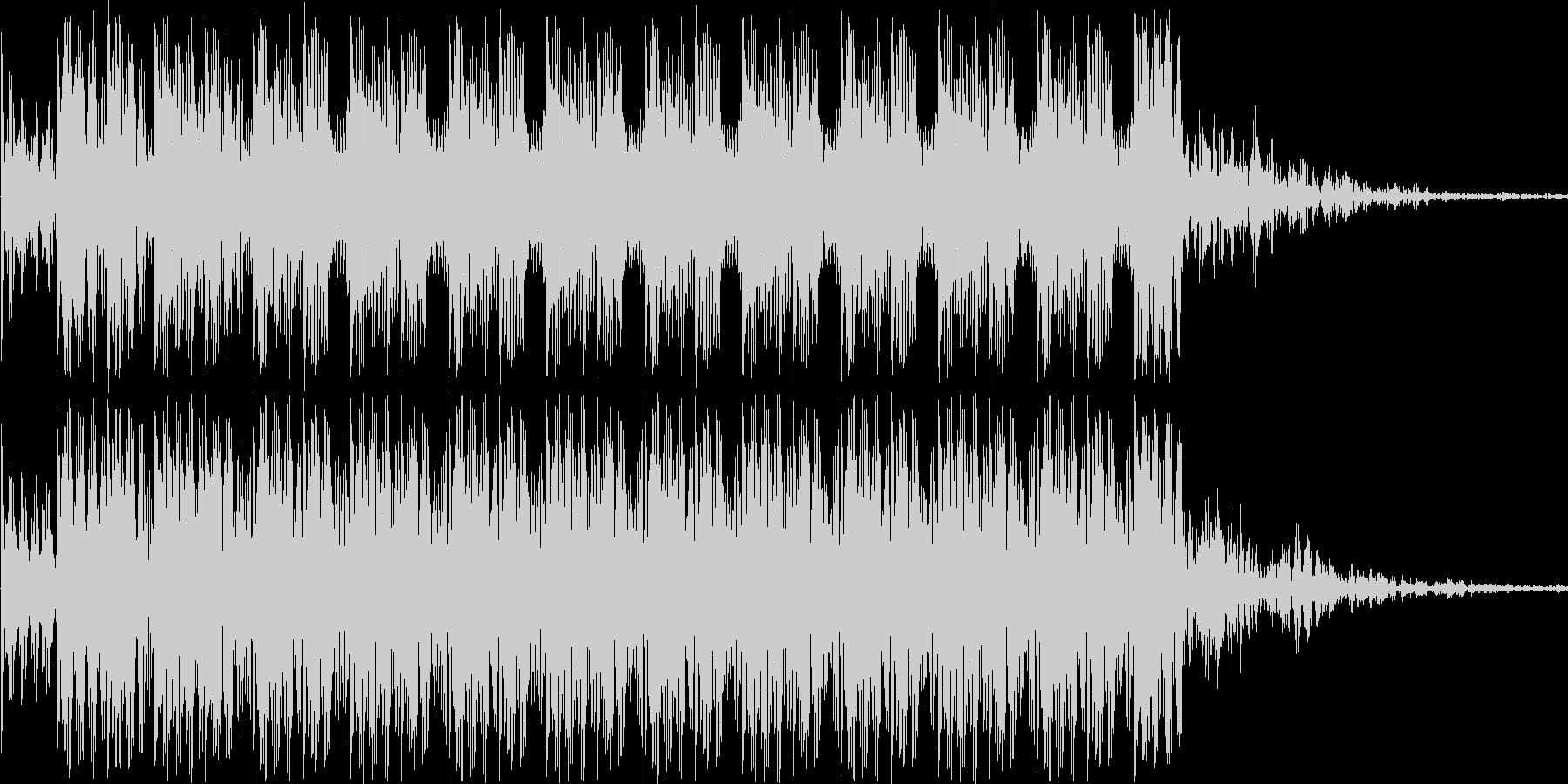 ダダダダというショット音の未再生の波形