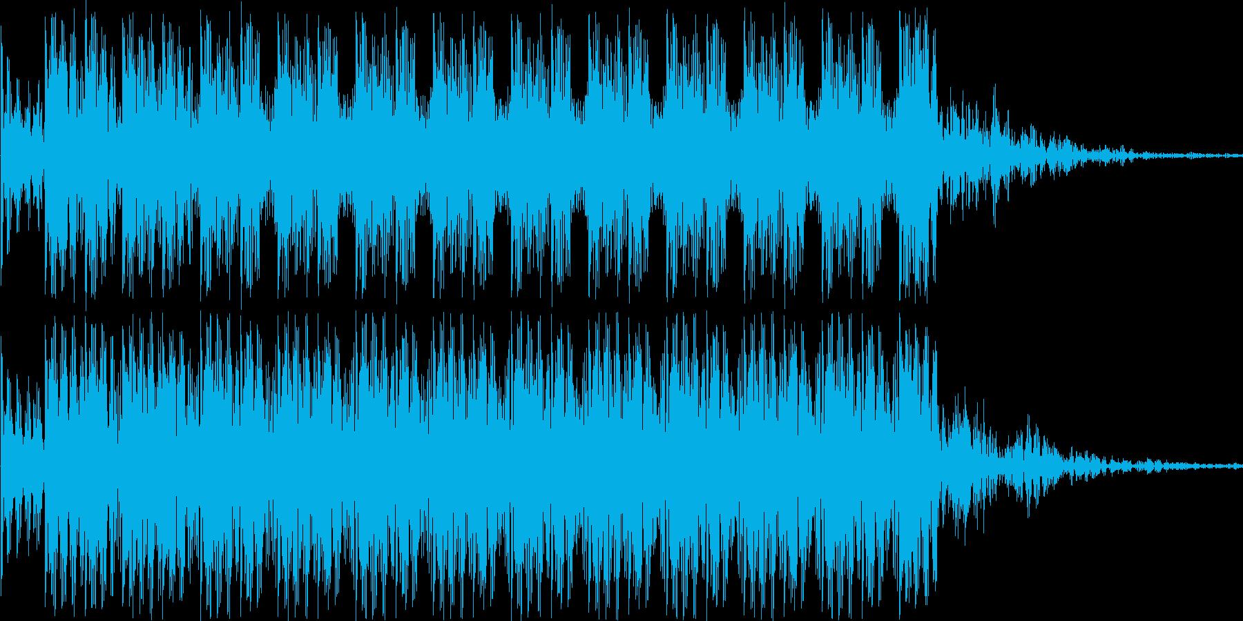 ダダダダというショット音の再生済みの波形