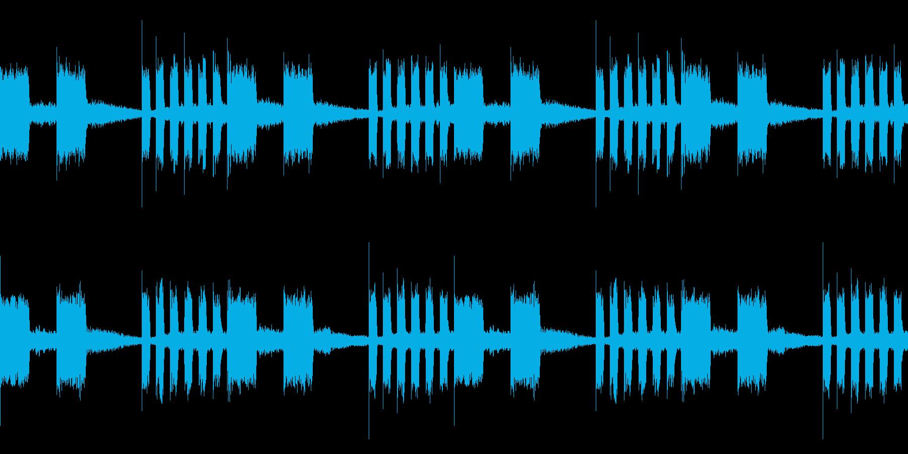 EDM レーザーサウンド ループの再生済みの波形