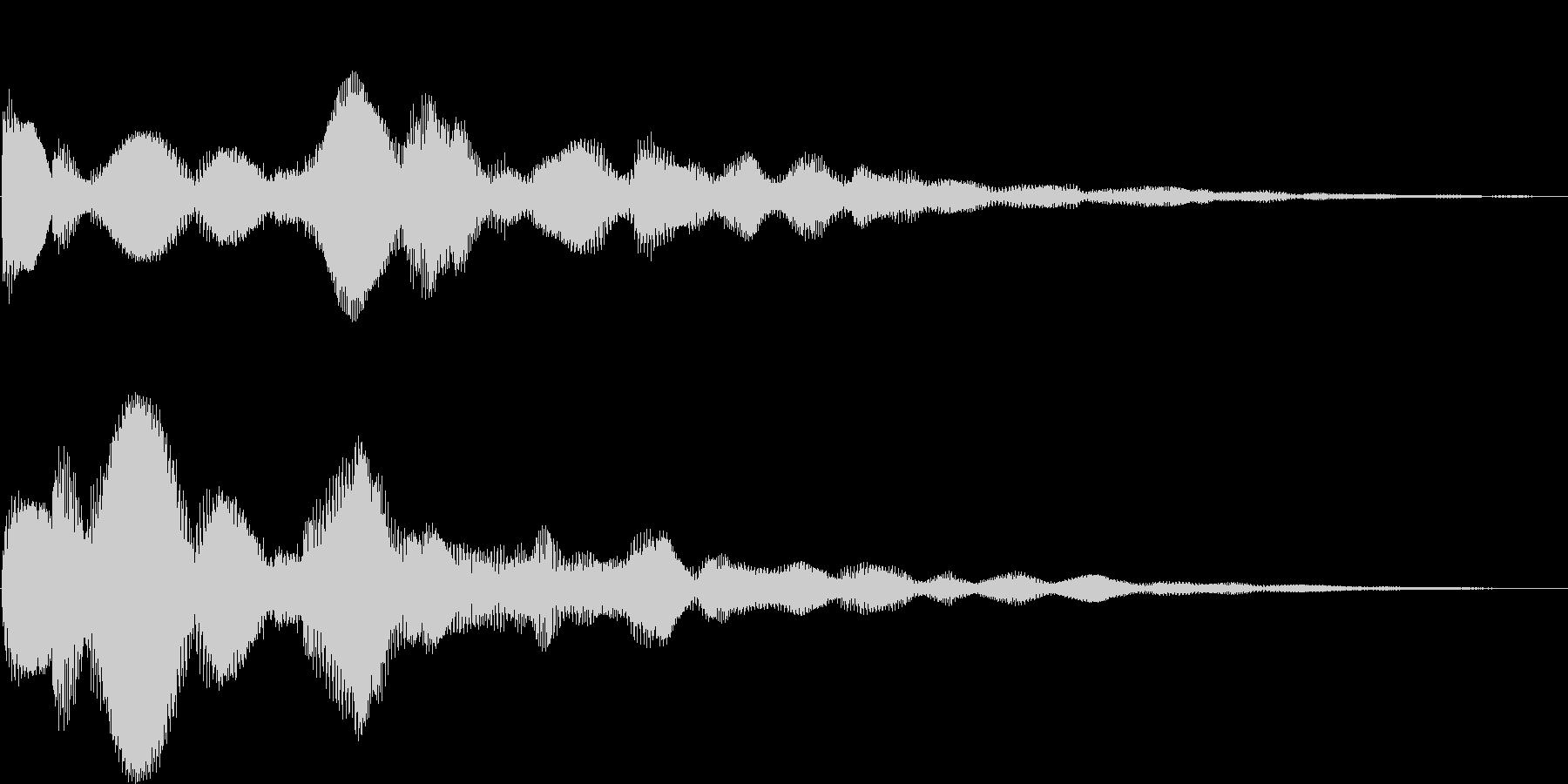 テローン(決定、アイテム、ボタン押す)の未再生の波形