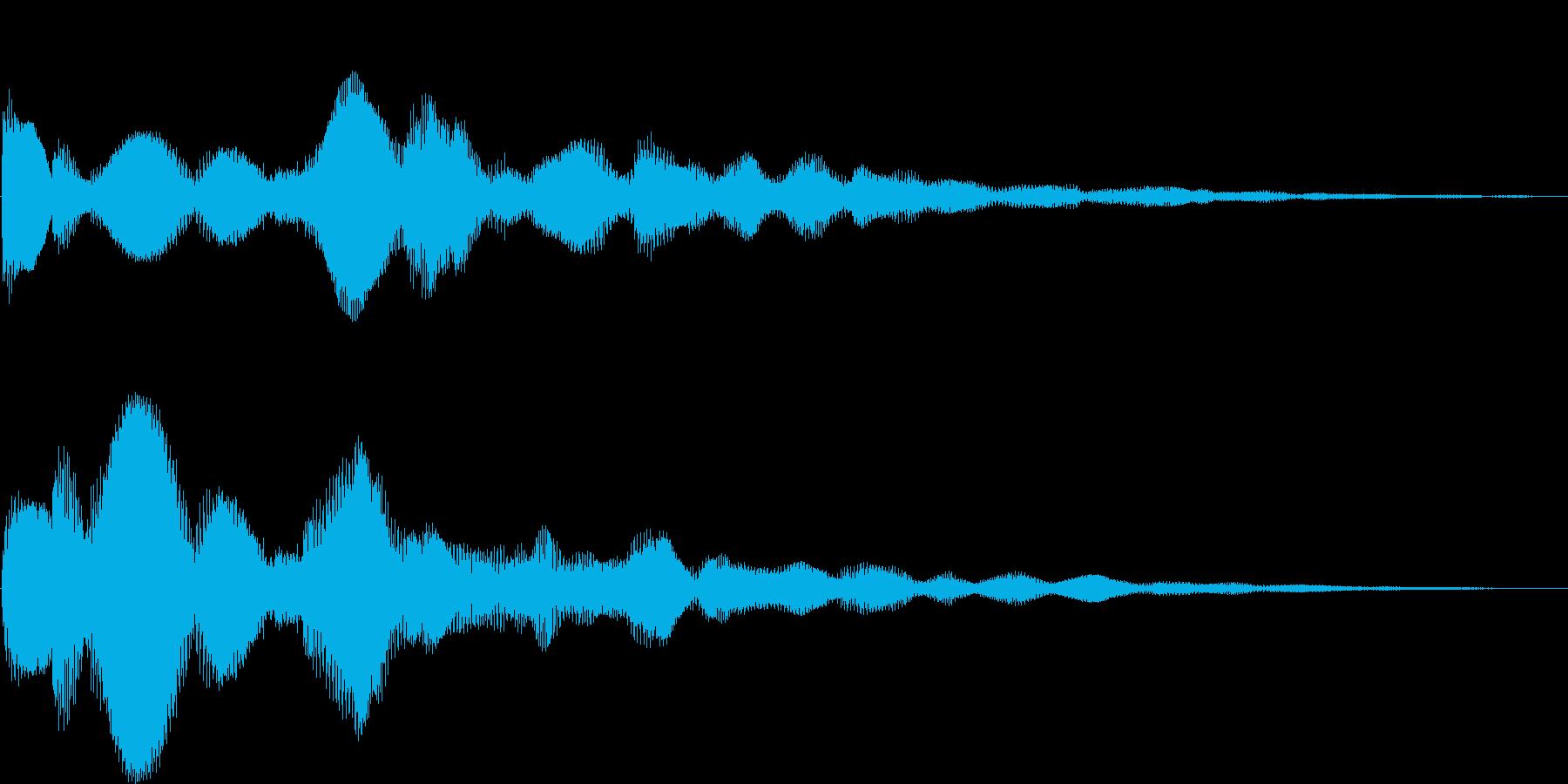 テローン(決定、アイテム、ボタン押す)の再生済みの波形