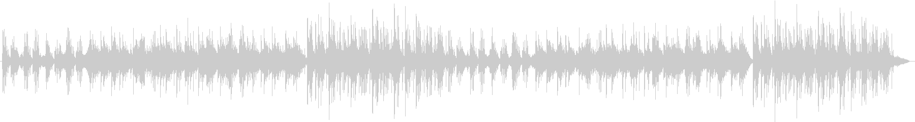 ピアノが静かなリズムで奏でますの未再生の波形
