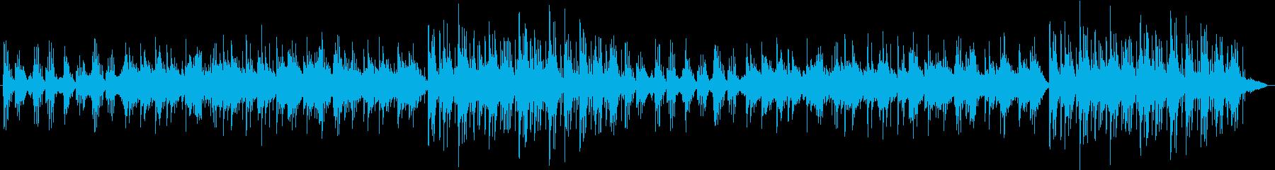 ピアノが静かなリズムで奏でますの再生済みの波形