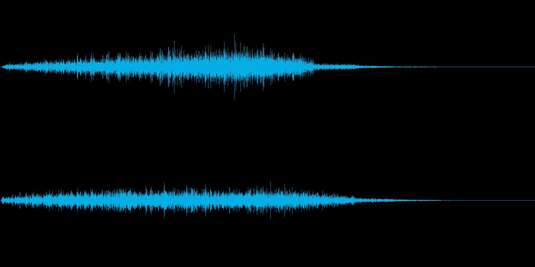 シャッ(こする)の再生済みの波形