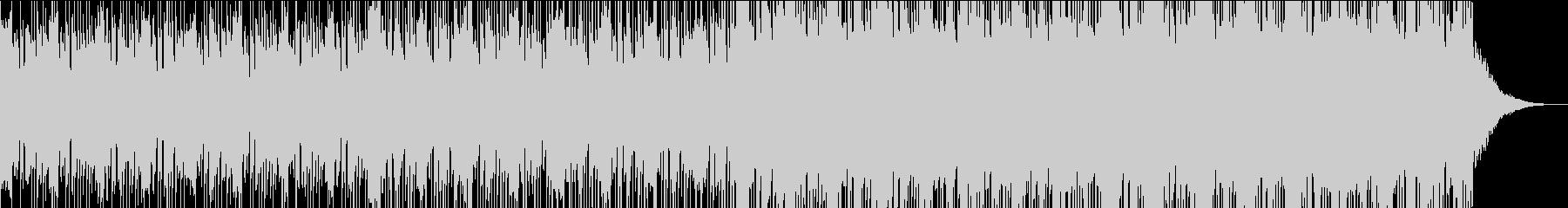 怪しげなシンセメインのテクノギターロックの未再生の波形