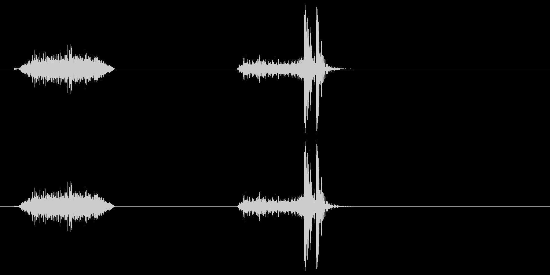 襖・障子の開閉2(速く)の未再生の波形