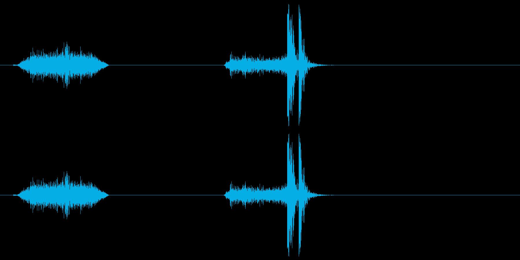 襖・障子の開閉2(速く)の再生済みの波形