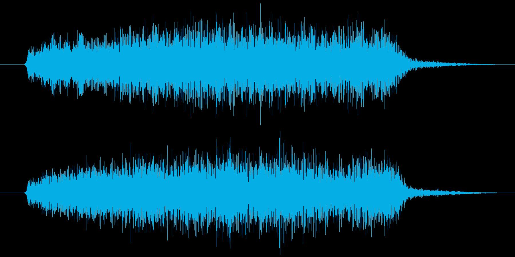 多楽器による怖い不協和音ですの再生済みの波形