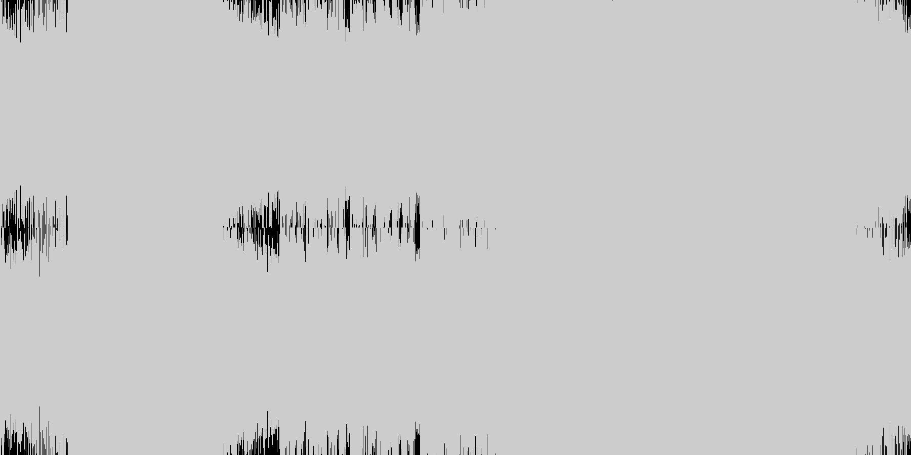 サイバーなイメージのトランス(ループ)の未再生の波形