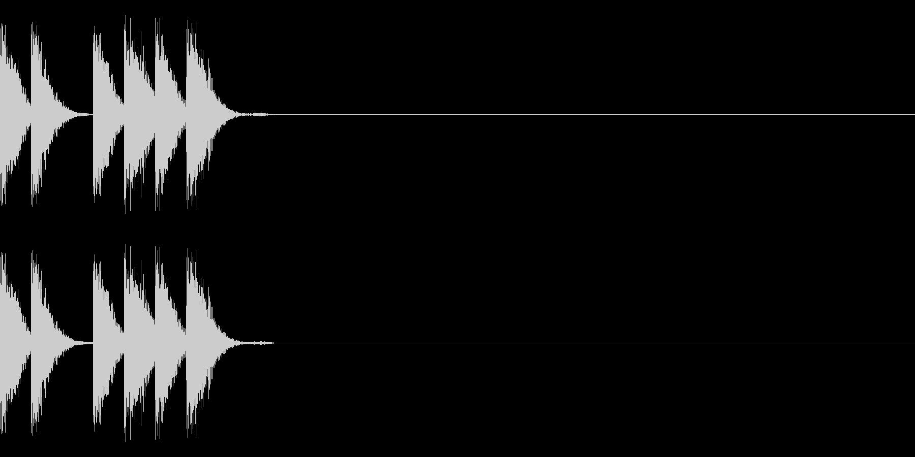 パリリリ(電子)の未再生の波形