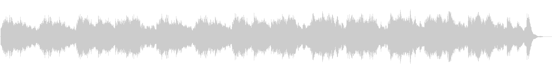 雨の公園のセンチメンタルなオルゴール曲の未再生の波形