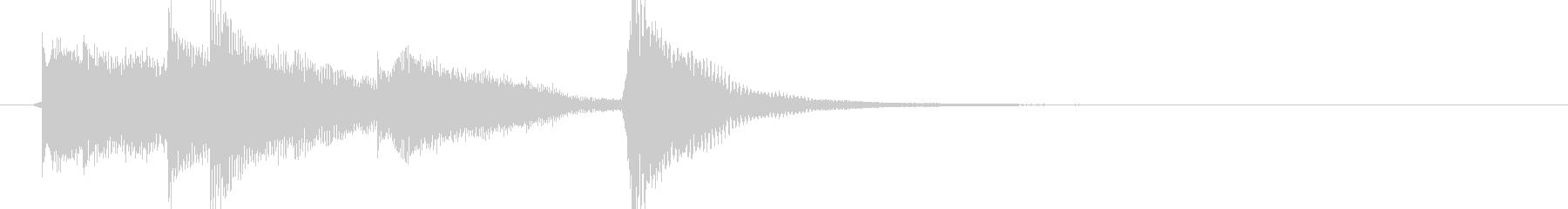 マリンバとストリングスのかわいいジングルの未再生の波形