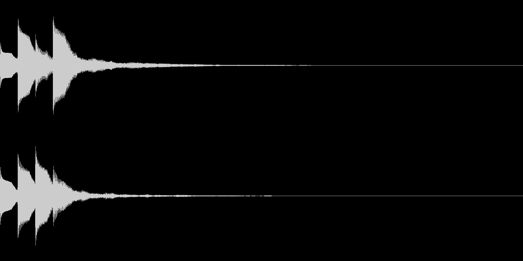 Quiz 美しい残響の正解ピンポン音 3の未再生の波形