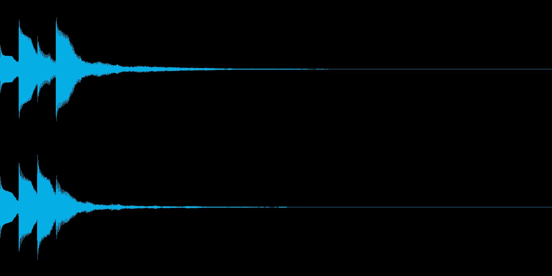 Quiz 美しい残響の正解ピンポン音 3の再生済みの波形