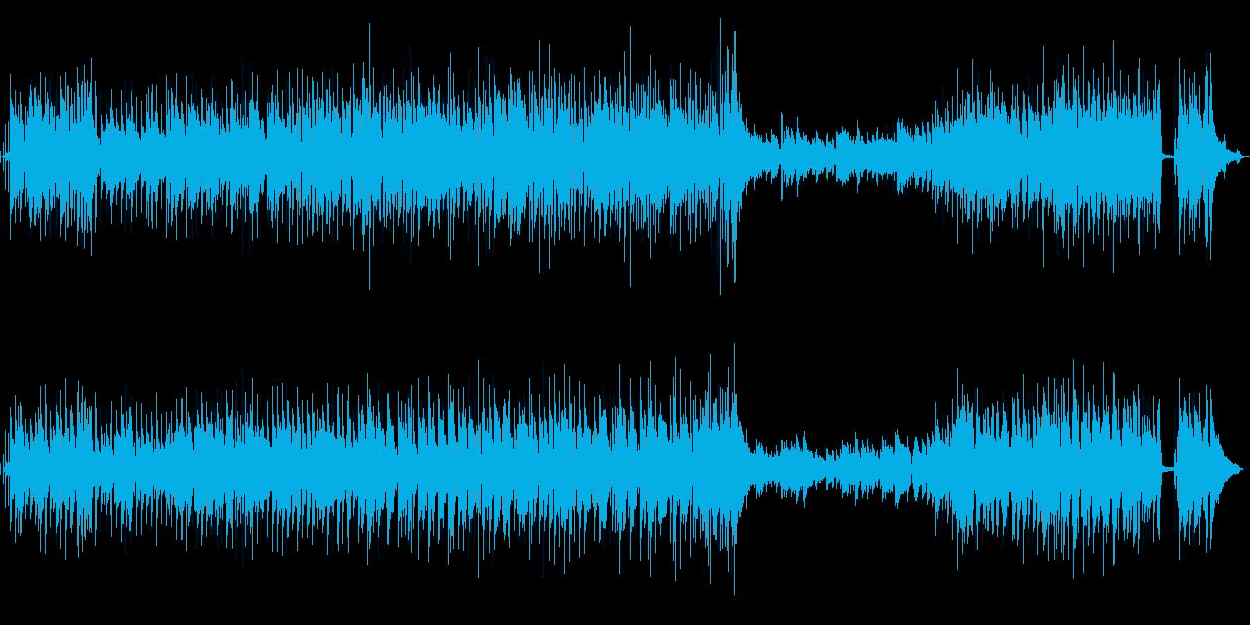 都会的な洗練されたイメージのブルースの再生済みの波形