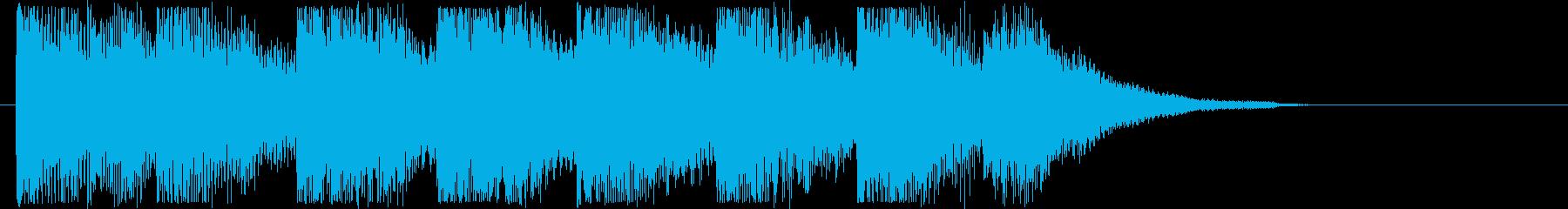 やさしいシンセサウンド短めの再生済みの波形