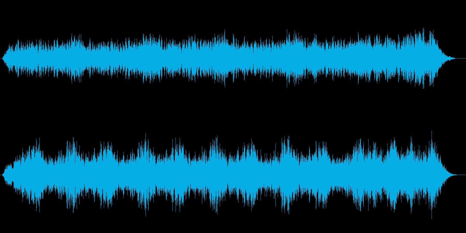 ホラー映画、エイリアン登場の様なサウンドの再生済みの波形