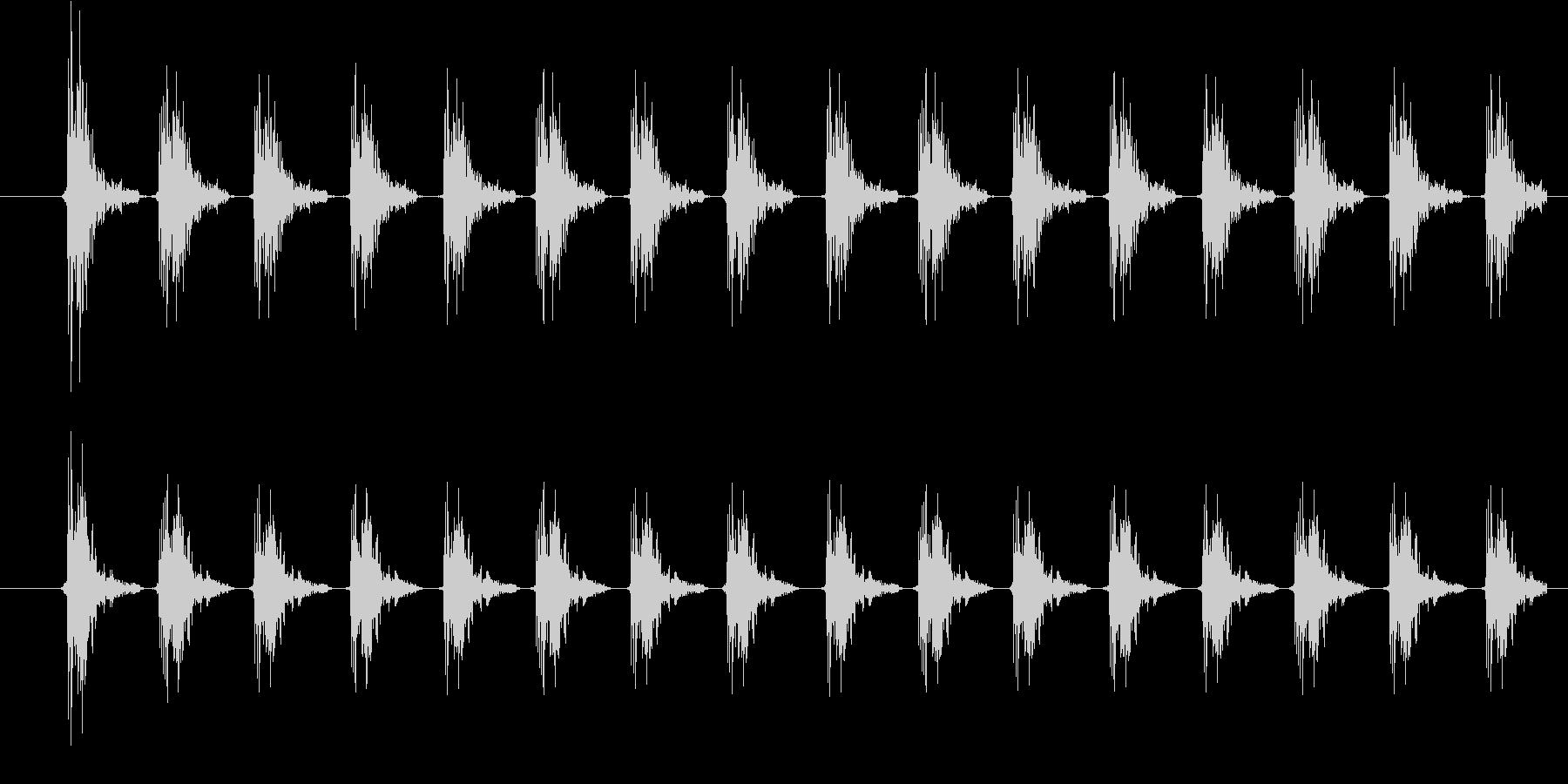 包丁で切る(超高速)の未再生の波形