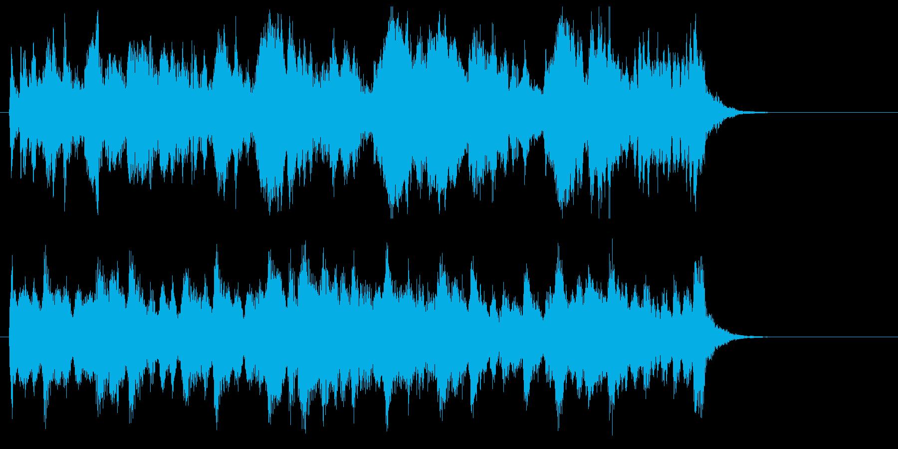 緩やかで軽快なストリングスポップジングルの再生済みの波形