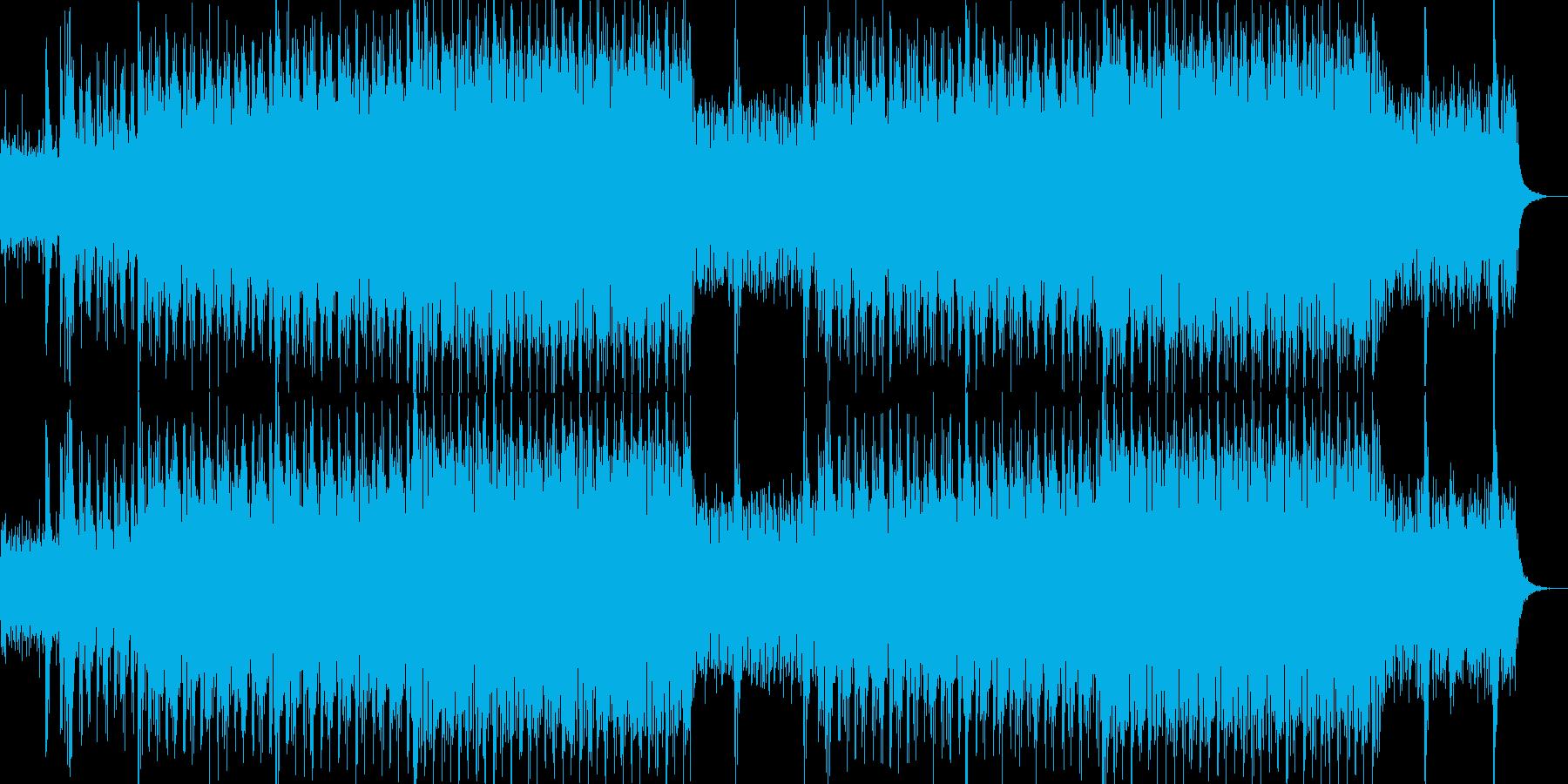 現代的で都会的なシンセミュージック-07の再生済みの波形