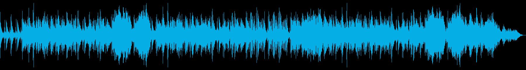 夜の宿場 琴と即興尺八風とシンセベースの再生済みの波形