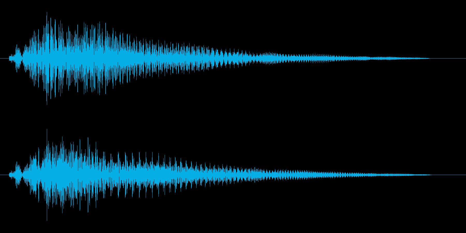 ビュ↑〜ン(飛ぶ音)の再生済みの波形