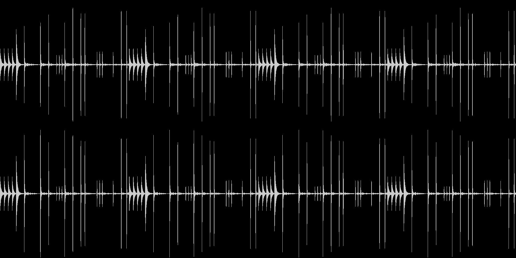 WoodBlocks 尾行のテーマの未再生の波形