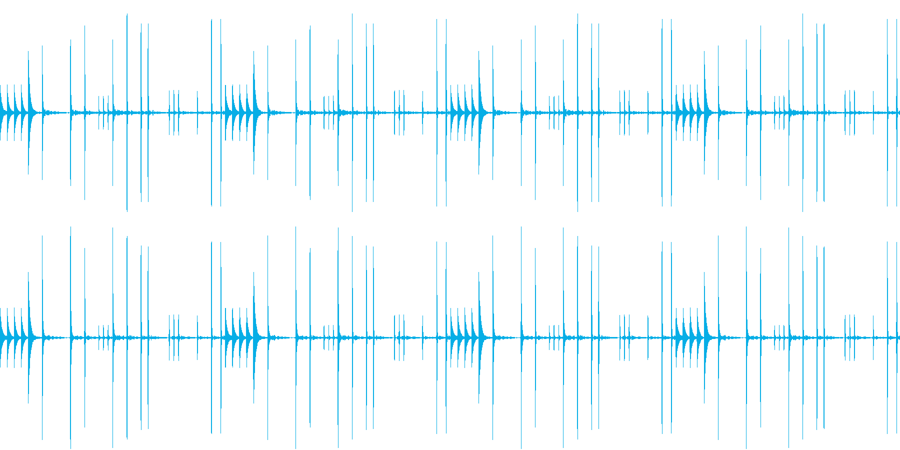 WoodBlocks 尾行のテーマの再生済みの波形