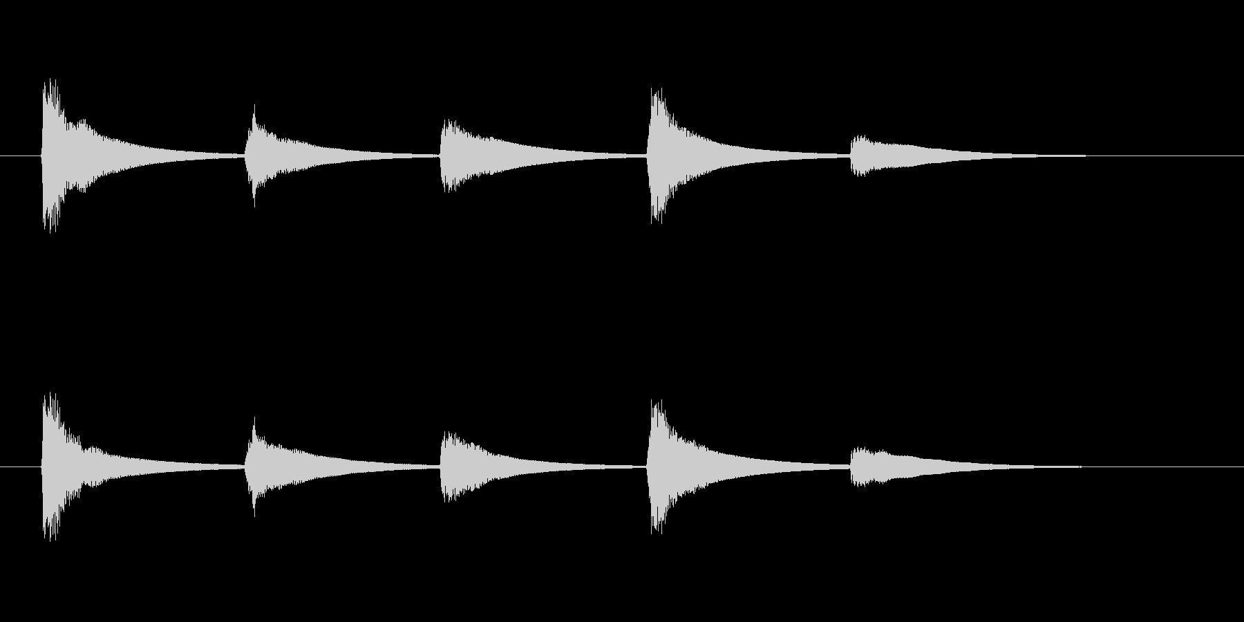 【SE 効果音】ティロティリロリン6の未再生の波形
