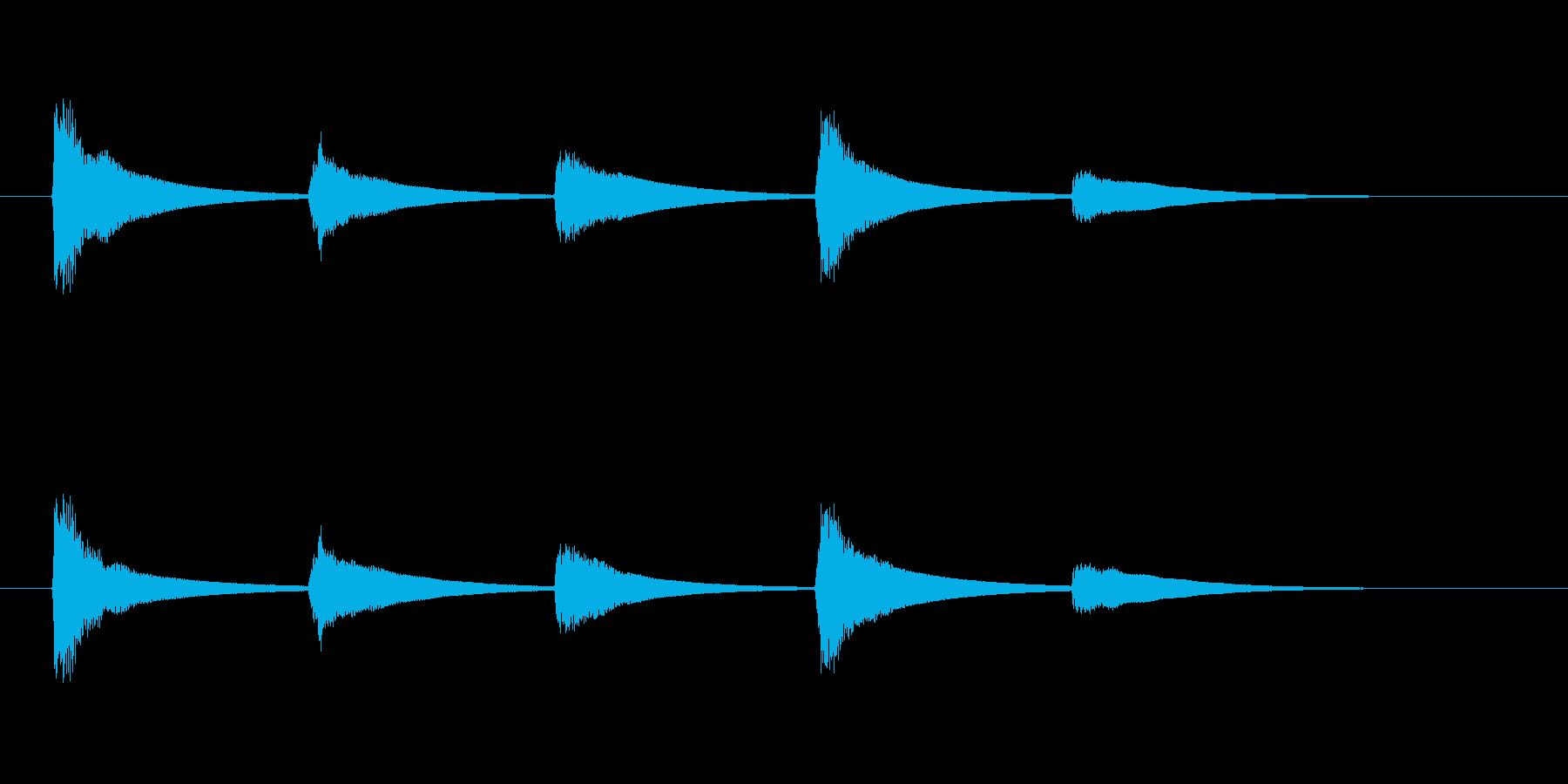 【SE 効果音】ティロティリロリン6の再生済みの波形