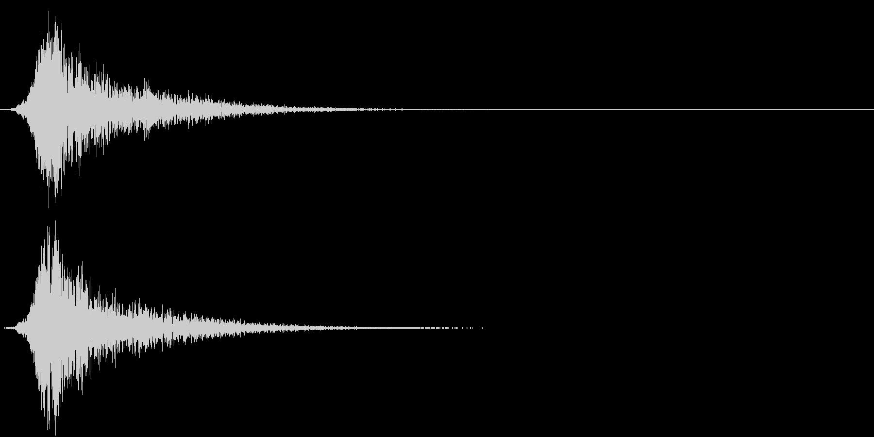 ピューン!3 リバーブの未再生の波形