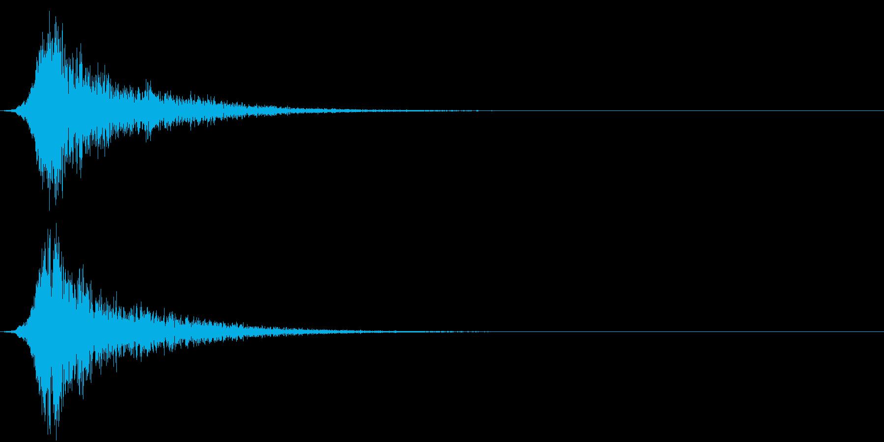 ピューン!3 リバーブの再生済みの波形