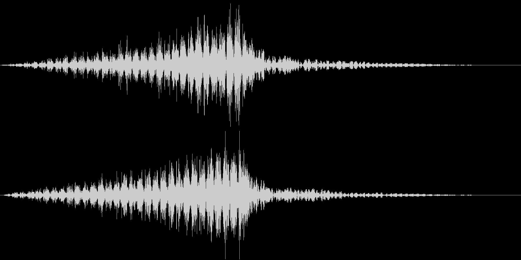 力の下で響くノイズの未再生の波形