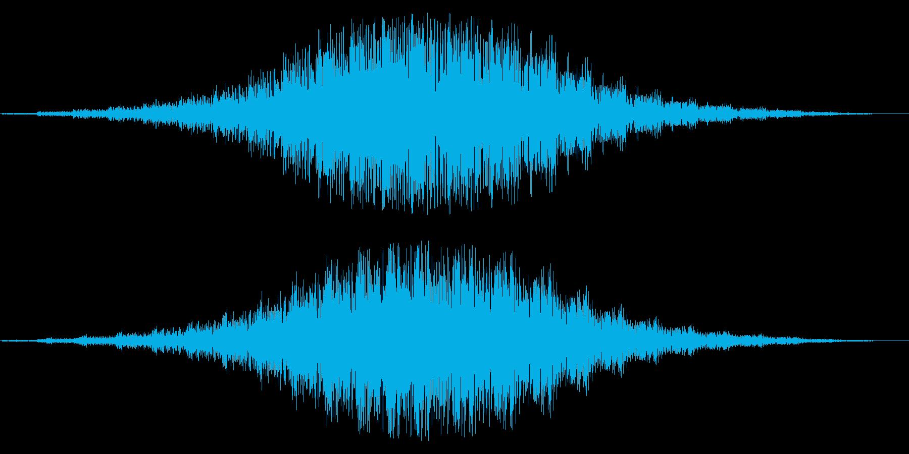 魔法のかかるような効果音の再生済みの波形
