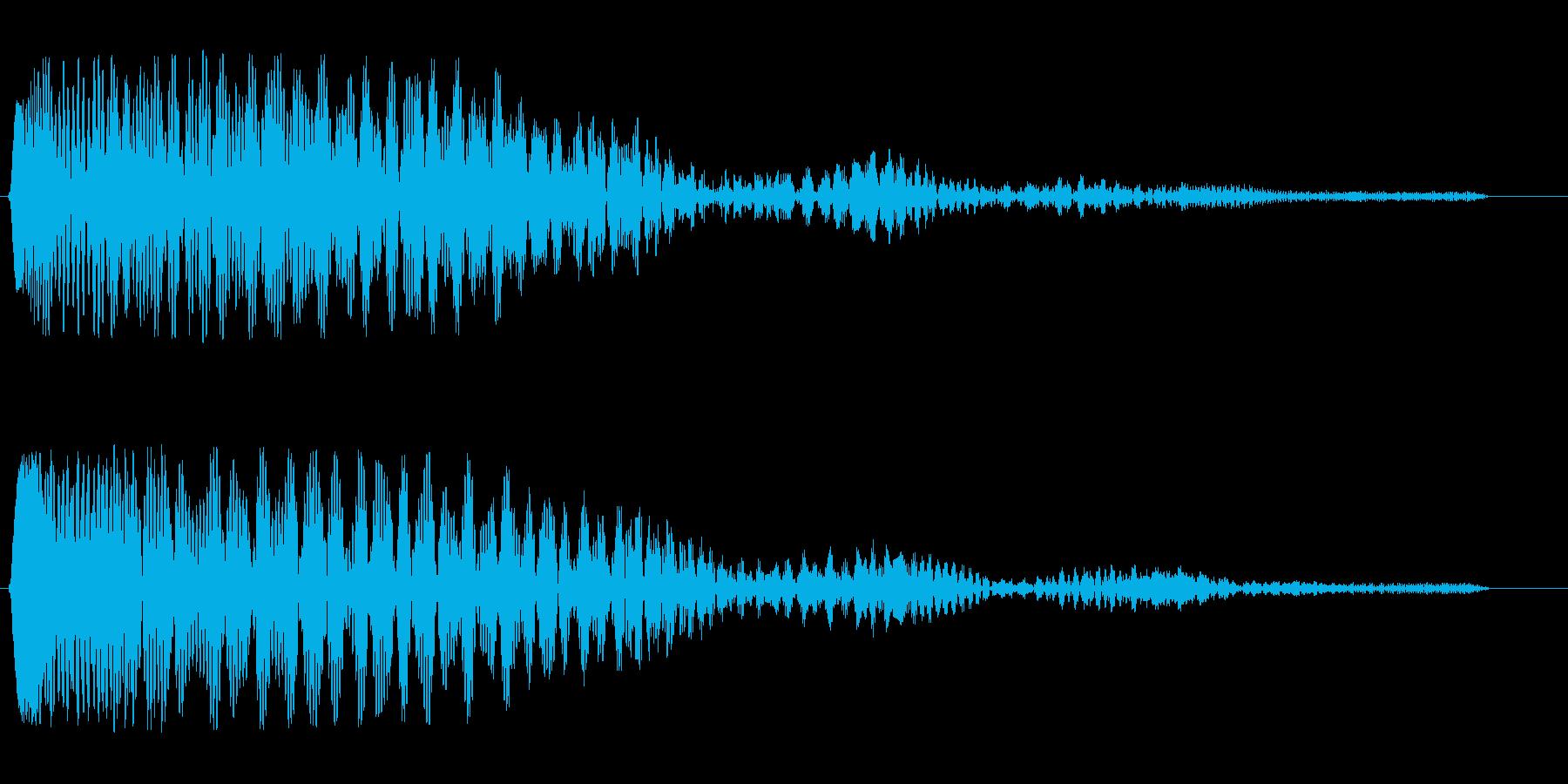 ジュボ〜ンという効果音の再生済みの波形