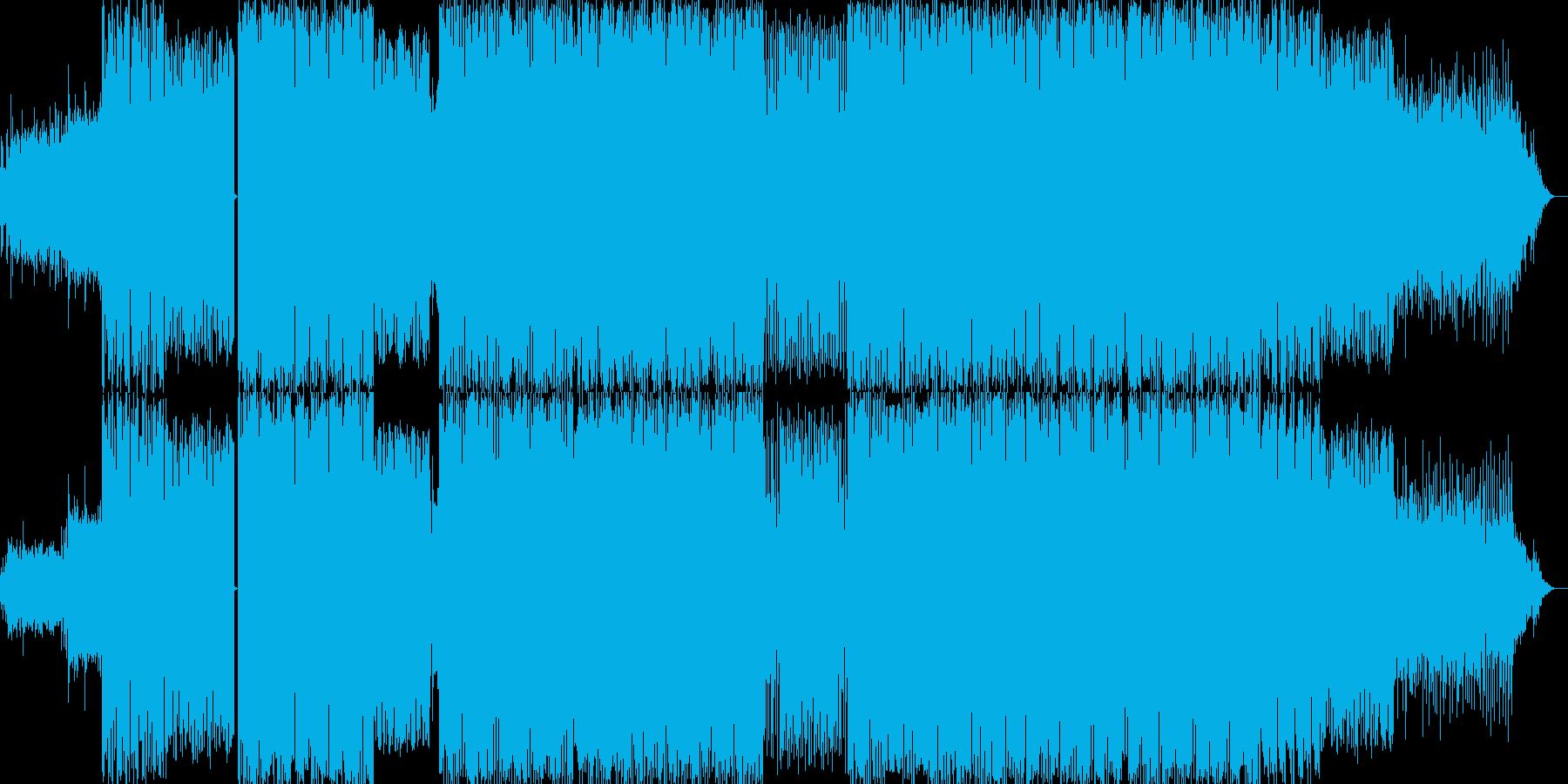 静動が渾然一体となったダンスミュージックの再生済みの波形