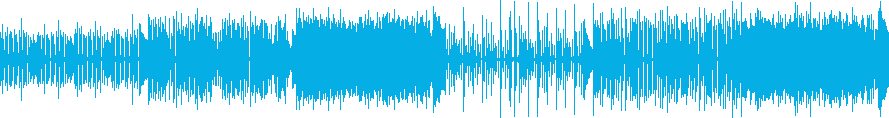 ほのぼのした雰囲気のアコギ楽曲ループの再生済みの波形