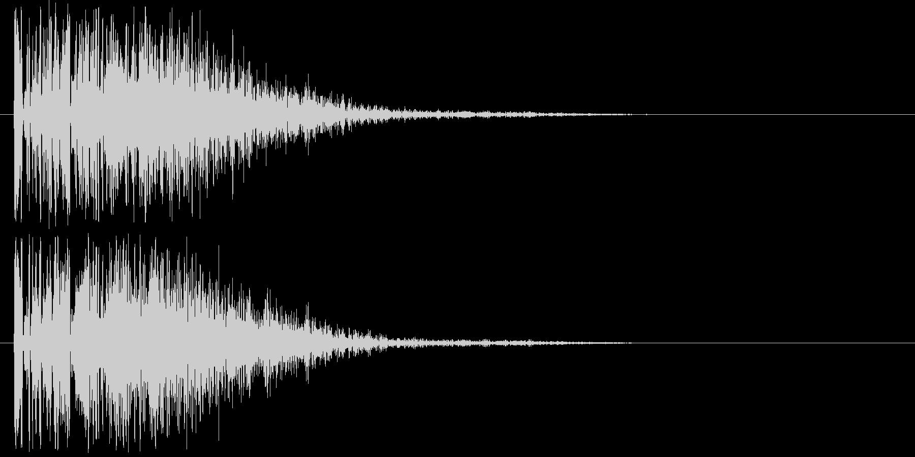 爆発音・大砲1の未再生の波形