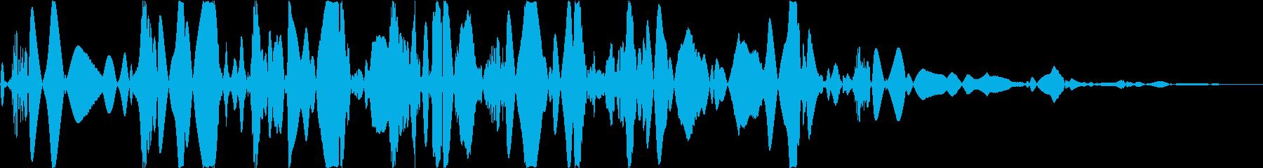 ベチャッ06(泥・液体系のアクション音)の再生済みの波形