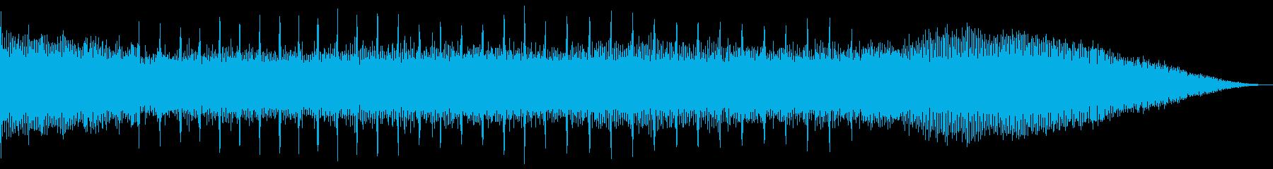 蝉のミーンミーン&川のザーザーのコラボの再生済みの波形
