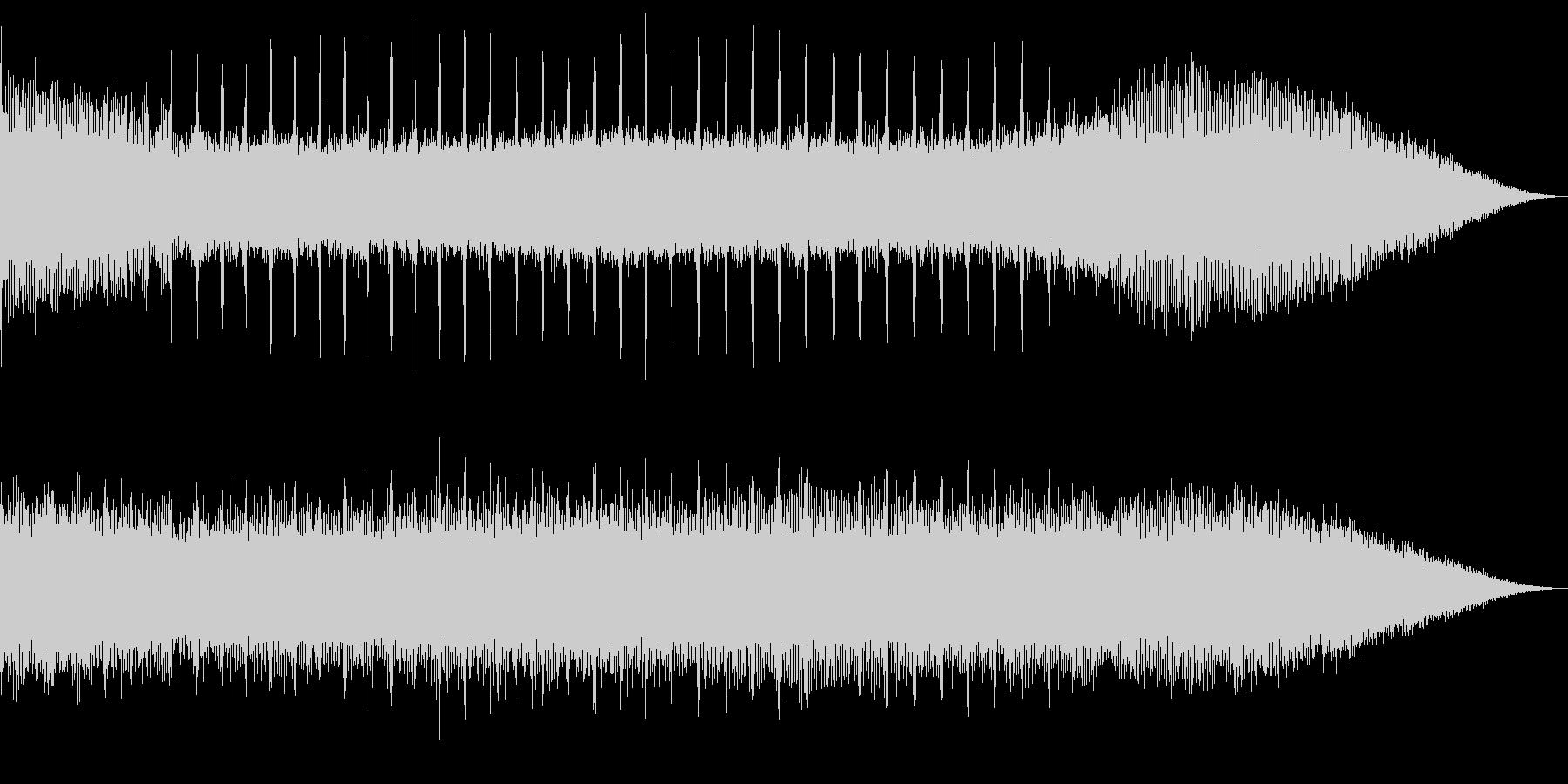蝉のミーンミーン&川のザーザーのコラボの未再生の波形