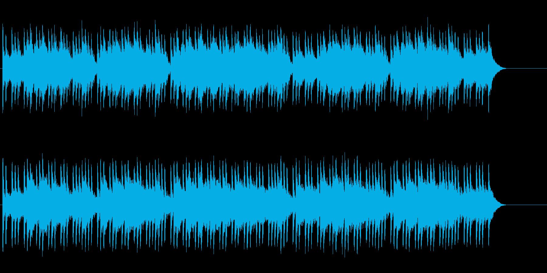 不安・緊張をもたらすホラーBGMの再生済みの波形