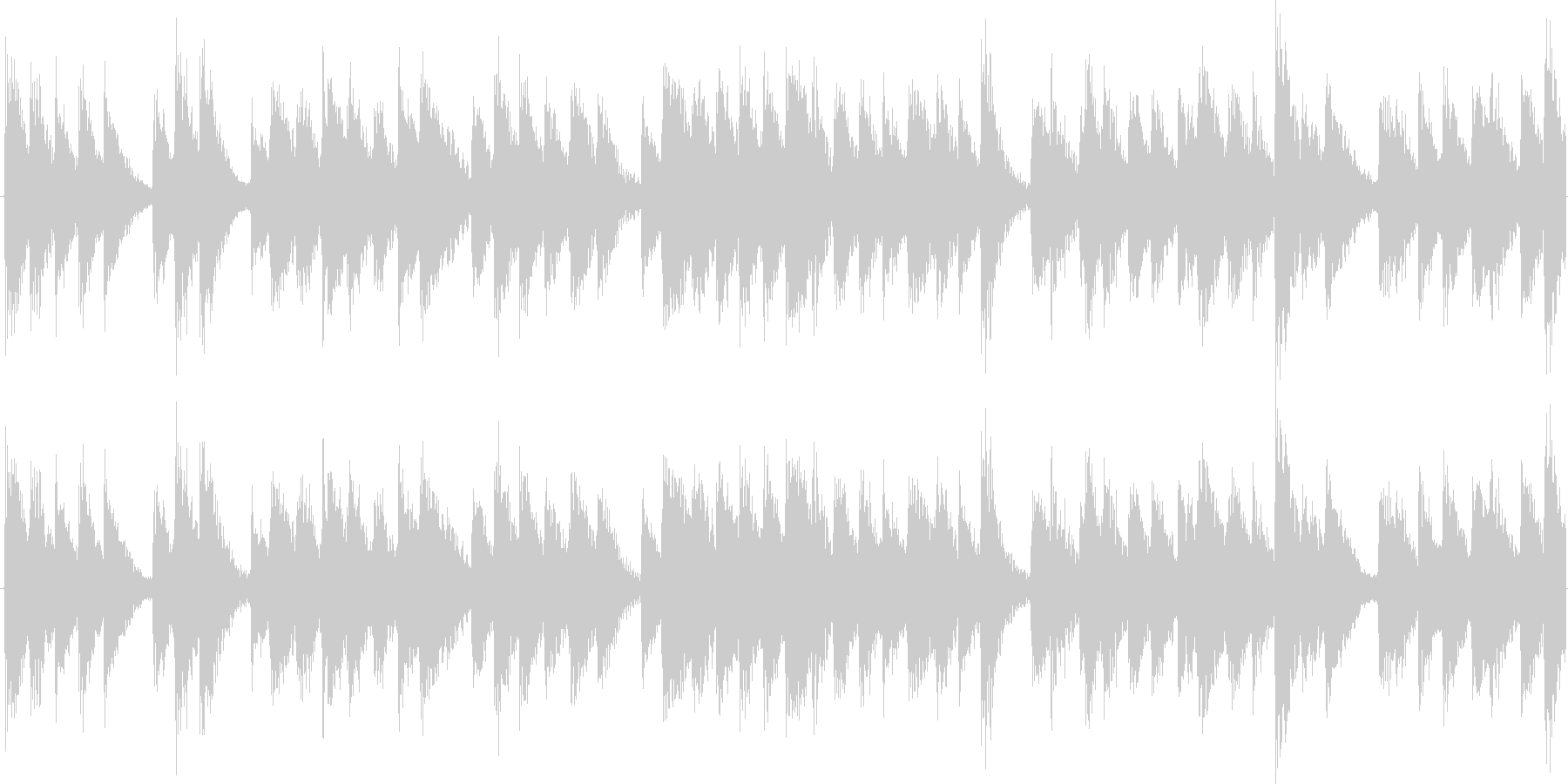 奇妙で緊迫感のあるピアノ曲の未再生の波形