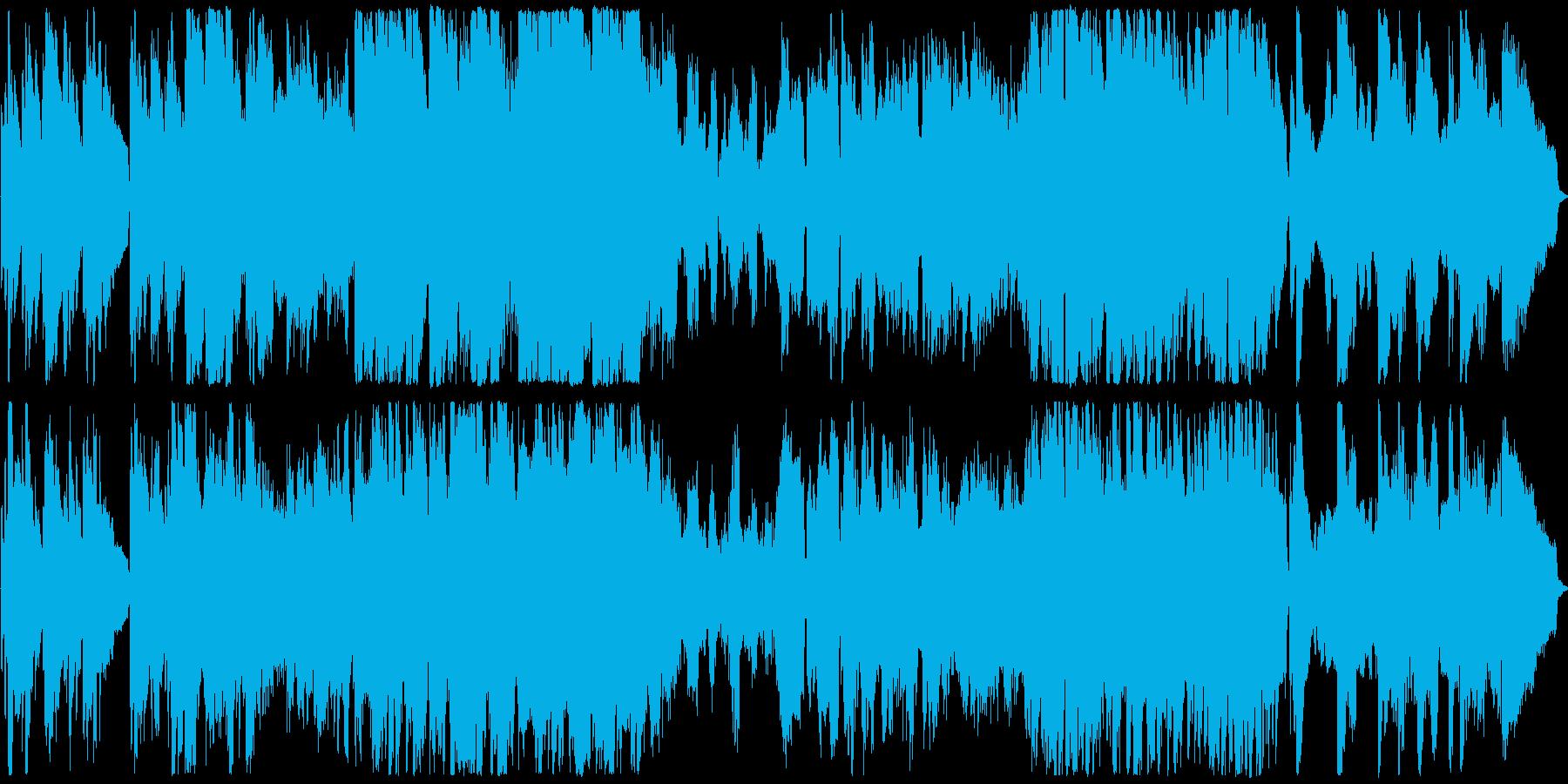 穏やかな時間が流れを感じる映像向けの曲の再生済みの波形