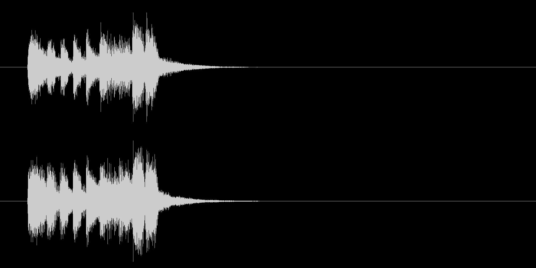ジングル(バラエティータイプ)の未再生の波形