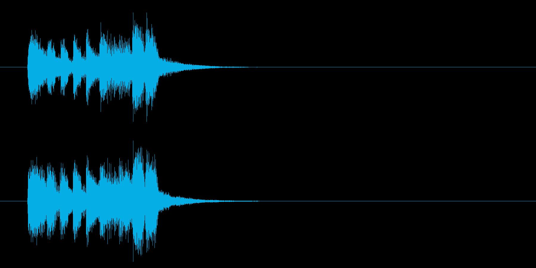 ジングル(バラエティータイプ)の再生済みの波形